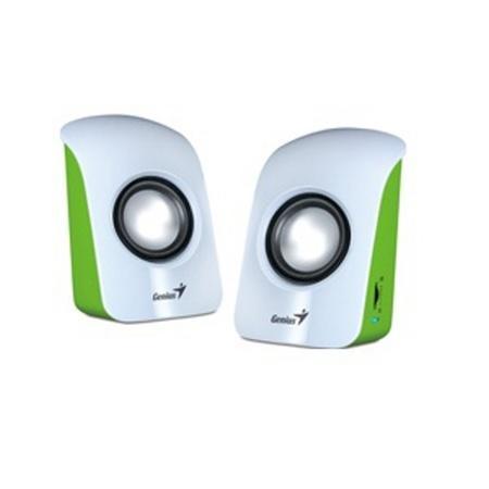 Genius repro SP-U115, přenosné repro, USB napájení, bílo/zelené, 31731006103
