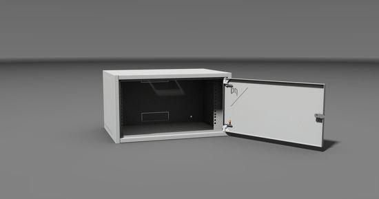 Rack Typ 1-12U/400 plechové dveře, šedý,