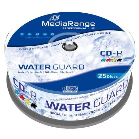 MediaRange CD-R 700MB 52x, Printable, spindle, 25ks (MRPL512), MRPL512