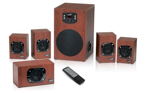 GENIUS repro SW-HF5.1 4600 (dřevo, 5.1 Home Theater 120W RMS, display), cherry, 31731028100