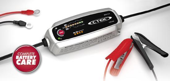 Nabíječka CTEK MXS 5.0 new pro autobaterie, s teplotním čidlem (12V, 0,8/5A, 1,2-110Ah/160 Ah)