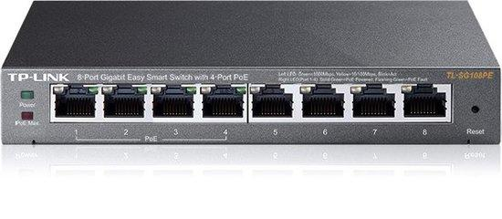Switch TP-Link TL-SG108PE PoE, 8 port, Gigabit