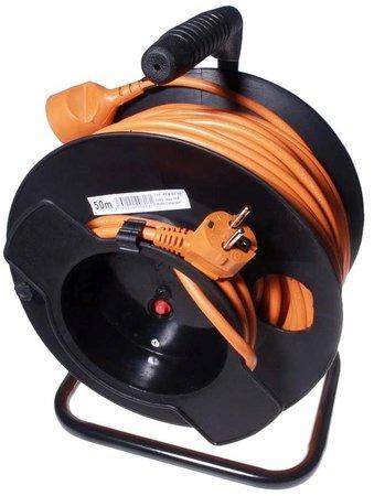 Kabel prodlužka PPB 220V 50m na bubnu HQ (1zás, 16A) POWERGARDEN