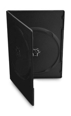 COVER IT Krabička na 2 DVD 7mm slim černý - karton 100ks, NN128