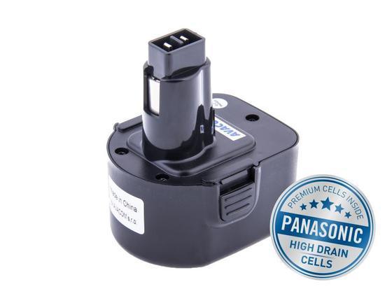 Baterie Avacom pro aku Black & Decker A9252 Ni-Mh 12V 3000mAh, články Panasonic - neoriginální