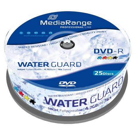MediaRange DVD-R 4,7GB 16x, printable, spindle, 25ks (MRPL612), MRPL612