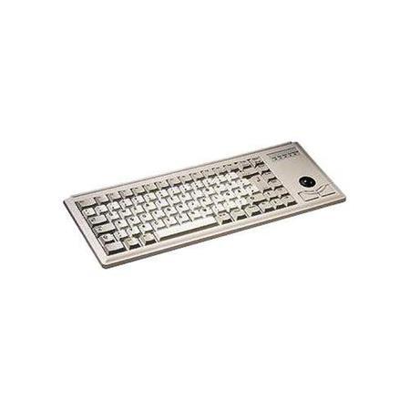Klávesnice Cherry G84-4400LUBDE-0, KEY, USB, světlá, trackball, DE, G84-4400LUBDE-0