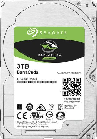 "Seagate BarraCuda 3TB HDD / ST3000LM024/ Interní / 2,5"" / 5400 rpm / SATA 6Gb/s / 128MB, ST3000LM024"