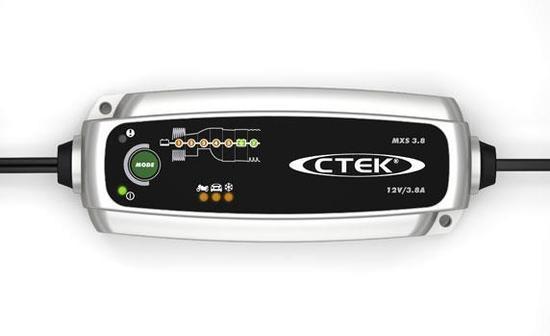 Nabíječka CTEK MXS 3.8 pro autobaterie (12V, 0,8/3,8A, 1,2-75/120Ah)