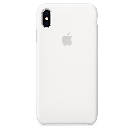 Pouzdro Apple Silicone Case iPhone Xs bílé