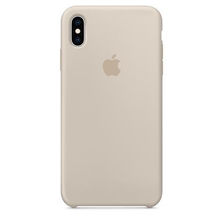 Pouzdro Apple silikonové iPhone XS Max kamenně šedé