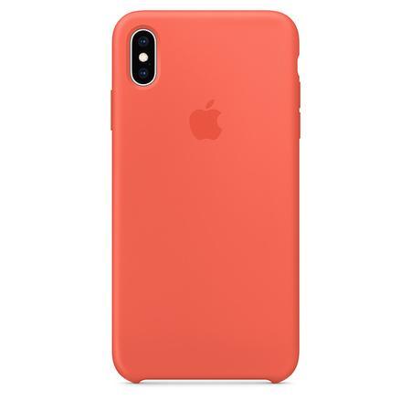 Pouzdro Apple Silicone Case iPhone Xs Max - nektarinkové