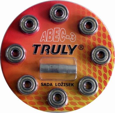 Sada ložisek TRULY ABEC 3 - Carbon/8ks