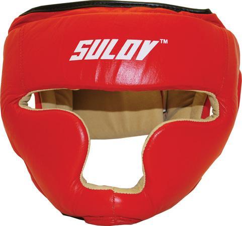 Chránič hlavy uzavřený SULOV, kožený, vel. L, červený, Červená