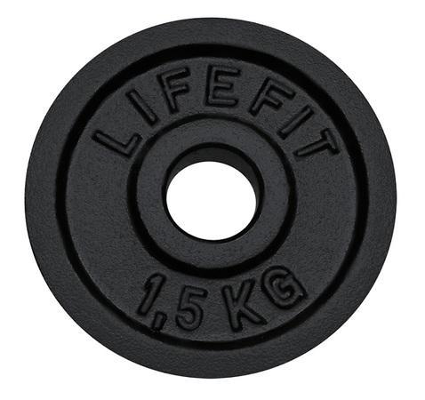 Kotouč LIFEFIT 1,5kg, kovový, pro 30mm tyč