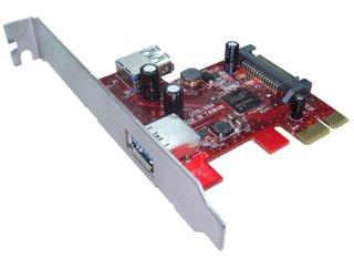 Kouwell UB-115 PCIe I/O karta/ 1x interní USB3.0/ 1x externí USB3.0/ Low profile, UB-115
