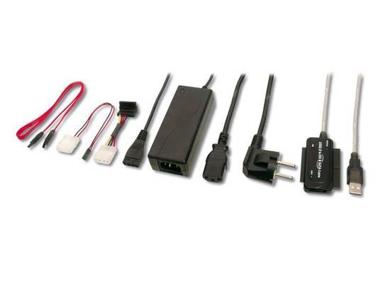 PremiumCord Konvertor USB 2.0 - IDE + SATA adapter s kabelem a přídavným zdrojem