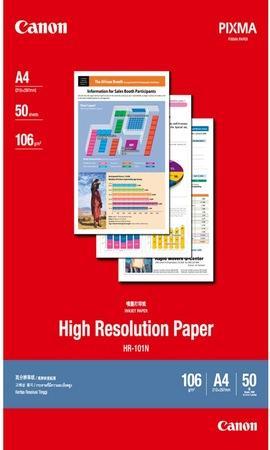 Fotografický papír, do inkoustové tiskárny, matný, A4, 106g, CANON, bal. 50 ks, 1033A002/HR-101