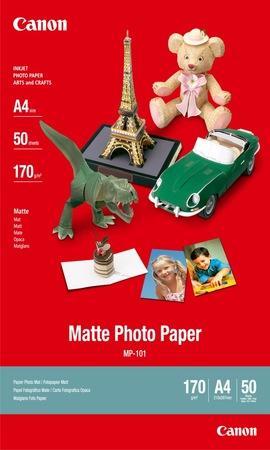Fotografický papír, do inkoustové tiskárny, matný, A4, 170g, CANON, bal. 50 ks, 7981A005