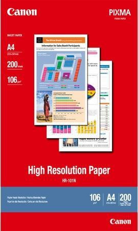 Fotografický papír, do inkoustové tiskárny, matný, A4, 106g, CANON, bal. 200 ks, 1033A001