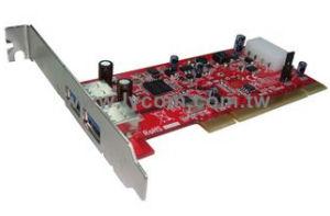 Kouwell UB-125 PCI I/O karta 2x USB3.0 port NEC chip Low profille, UB-125