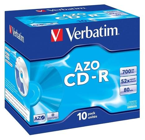Verbatim CD-R 700MB 52x, AZO, jewel, 10ks (43327), 43327
