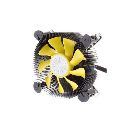AKASA Chladič CPU AK-CC7118HP01 K25 pro Intel LGA 775 a 115x, 75mm PWM ventilátor, pro mini ITX a micro ATX skříně, AK-CC7118HP01