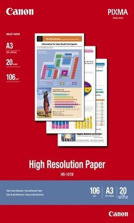 Fotografický papír, do inkoustové tiskárny, matný, A3, 106g, CANON, bal. 20 ks, 1033A006