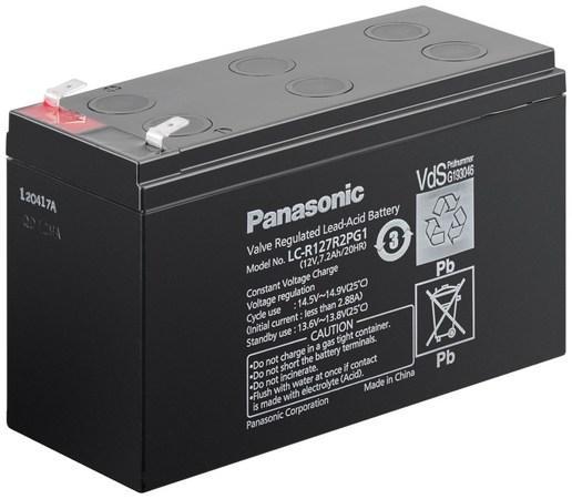 PANASONIC olověná baterie LC-R127R2PG1 do UPS AEG/ APC/ EATON/ Powerware/ 12V/ 7,2Ah/ životnost 6-9let/ Faston 250, 00909