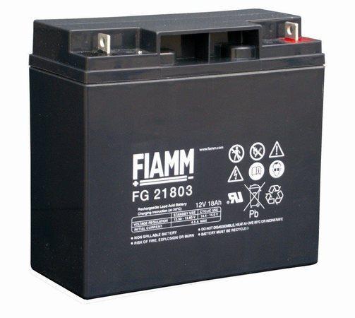 FIAMM olověná baterie FG21803 do UPS APC/AEG/ EATON/ Powerware/ 12V/ 18Ah/ životnost 5 let/ M5, 07959