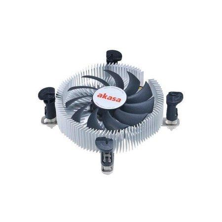 AKASA Chladič CPU AK-CC7122BP01 pro Intel LGA 775 a 115x, 75mm PWM ventilátor, pro mini ITX a micro ATX skříně, AK-CC7122BP01