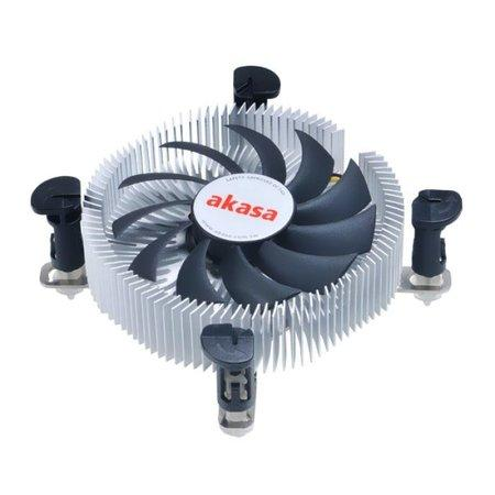 AKASA Chladič CPU AK-CC7122EP01 pro Intel LGA 775 a 115x, 75mm PWM ventilátor, pro mini ITX a micro ATX skříně, AK-CC7122EP01