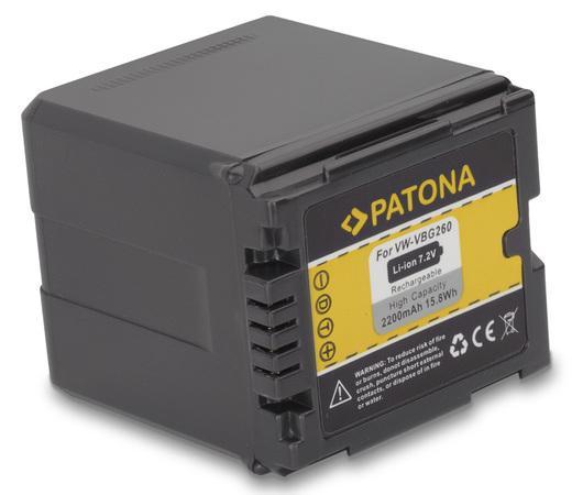 PATONA baterie pro foto Panasonic VW-VBG260 2200Ah