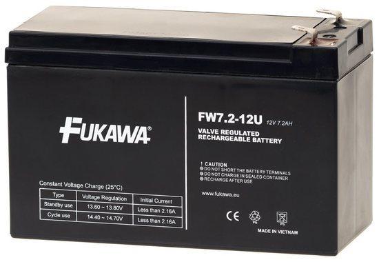 FUKAWA olověná baterie FW 7,2-12 F1U do UPS APC/ AEG/ EATON/ Powerware/ 12V/ 7,2 Ah/ životnost 5 let/ Faston 187, 12341