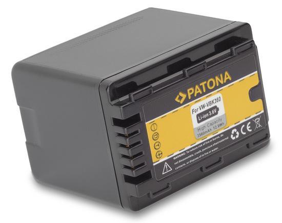 PATONA baterie pro foto Panasonic VBK360 3580mAh
