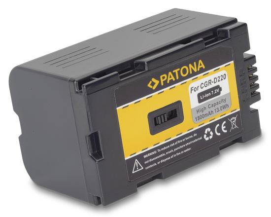 PATONA baterie pro foto Panasonic CGR D220 1600mAh