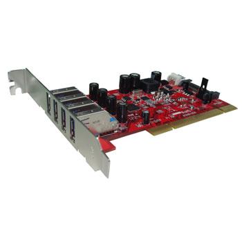 Kouwell UB-124N PCI I/O karta 4x USB3.0 porty Low profille, UB-124N