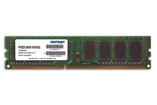 Patriot DDR3 8GB 1600MHz CL11 PSD38G16002