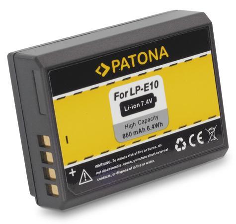 PATONA baterie pro foto Canon LP-E10 860mAh