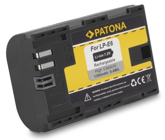 PATONA baterie pro foto Canon LP-E6 1300mAh Li-Ion