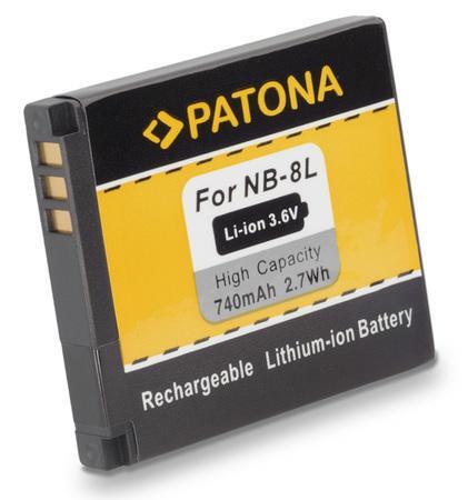 PATONA baterie pro foto Canon NB-8L 740mAh Li-Ion