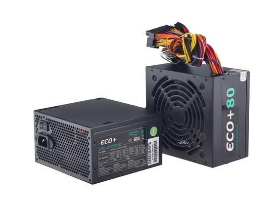 EUROCASE zdroj ECO+85 ATX-350WA-12-80(85)/ 12cm fan / PFC / 6+2 pin PCI-E / typ. uc. 85, ATX-350WA-12-80(85)