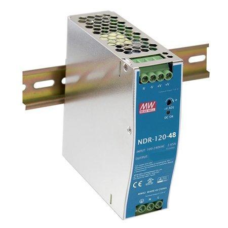PLANET PWR-120-48 průmyslový zdroj na DIN lištu, nastavitelný 48-56V DC, 120W, PWR-120-48