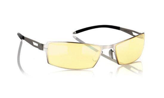 GUNNAR kancelářské brýle SHEADOG MERCURY/ stříbrné obroučky/ jantarová skla, G0005-C011
