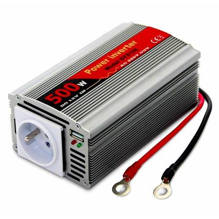 EUROCASE měnič napětí AC/DC 12V/230V/ 500W/ USB