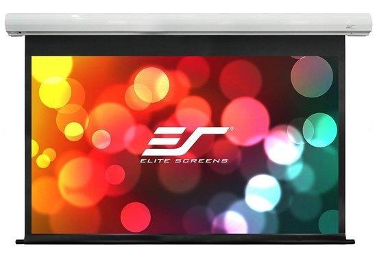 """ELITE SCREENS plátno elektrické motorové 150"""" (381 cm)/ 16:9/ 186,9 x 332 cm/ case bílý/ 6"""" drop/ Fiber Glass"""