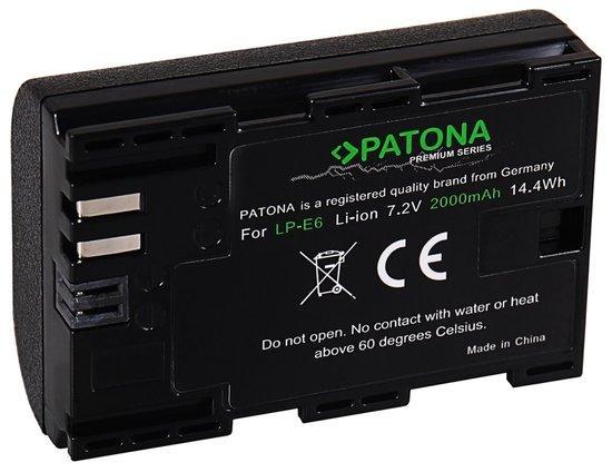 PATONA baterie pro foto Canon LP-E6 2040mAh Li-Ion Premium
