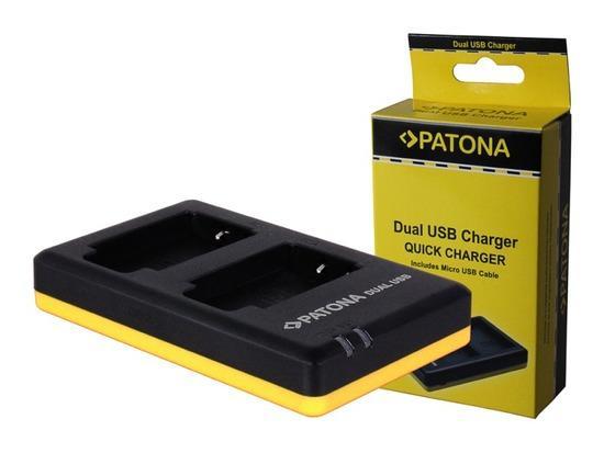 PATONA nabíječka Foto Dual Quick Nikon EN-EL19 USB