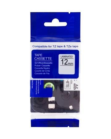 PRINTLINE kompatibilní páska s Brother TZE-232, 12mm, červený tisk/bílý podklad