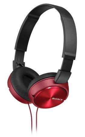 Sluchátka Sony MDRZX310R.AE - červená
